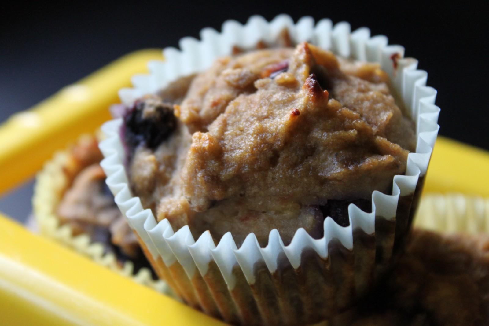 Blueberry Banana Muffins (Coconut Flour)