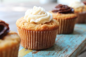 Vanilla Cupcakes with Coconut Flour