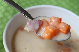 Creamy Ham & Sweet Potato Soup