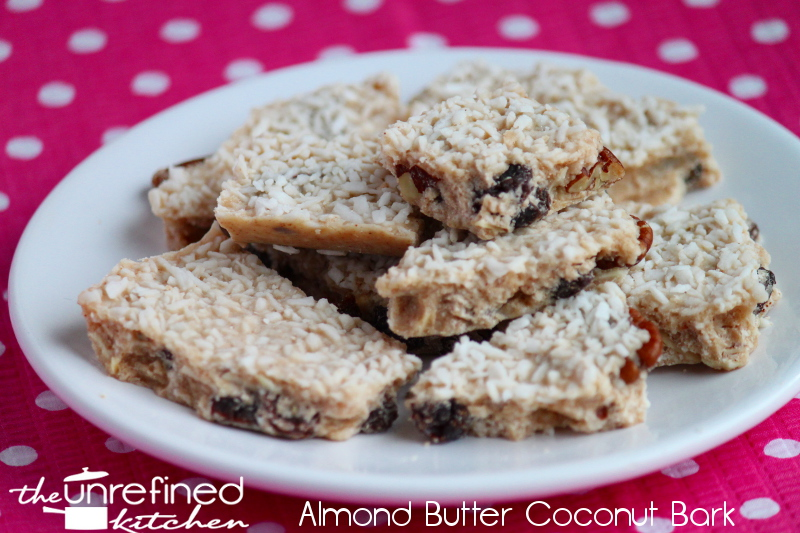 Almond Butter Coconut Bark & Coconut Almond Bark