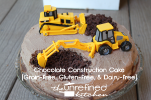 Our son's first birthday (Paleo Construction Cake)