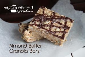 Almond Butter Granola Bars (Grain-free)